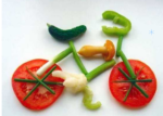 Bicycle made of veggies